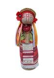 Puppe im nationalen ukrainischen Kostüm in der Front Stockbild