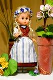 Puppe im preussischen Volkskostüm Lizenzfreies Stockbild