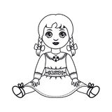 puppe Kind-` s Spielzeug stock abbildung