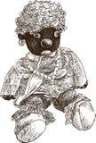 Puppe machen fest Lizenzfreies Stockfoto