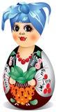 Puppe Ukraine-Matryoshka Lizenzfreies Stockbild