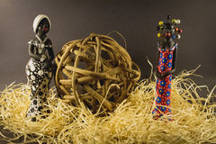 Puppen dekorativ und handgemacht von Brasilien Stockfoto