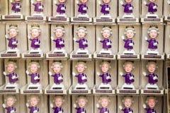 Puppen der Königin Elizabeth stockfoto