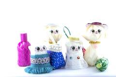 Puppen, handgemachte Spielwaren Lizenzfreie Stockfotos