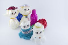 Puppen, handgemachte Spielwaren stockfoto