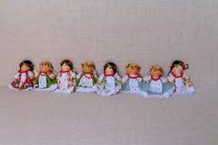 Puppen im nationalen Kostüm lizenzfreie stockbilder