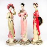 Puppen machten †‹â€ ‹von der keramischen Frauenfigur Lizenzfreie Stockbilder