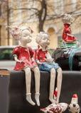 Puppen vom Lehm lizenzfreie stockfotos