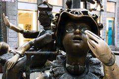 Puppenbrunnen - fontana dei burattini Aquisgrana/Germania fotografia stock libera da diritti