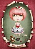 Puppenkuchen- und -mittagessenbär. Lizenzfreie Stockfotos
