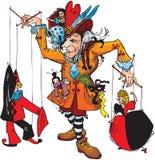 Puppenspieler und Marionetten Lizenzfreie Stockfotos