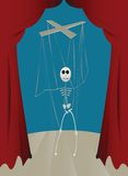 Puppet. On a string, vector illustration Royalty Free Stock Photos