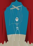 Puppet. Strings skeleton puppet, abstract art Royalty Free Stock Photos