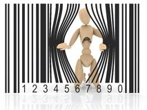 Puppet barcode Stock Image