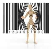 Puppet barcode Royalty Free Stock Image