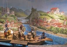 Puppet baroque installation in Hohensalzburg Fortress. Salzburg , Austria. Royalty Free Stock Photo