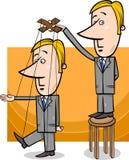 Puppet businessman concept cartoon Stock Photography