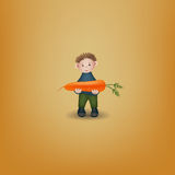 Puppet with carrot Stock Photo