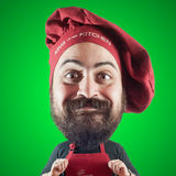 Puppet chef man with big head Stock Photos