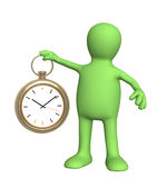 Puppet with clock Stock Images