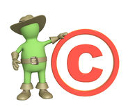 Puppet with copyright symbol Stock Photography