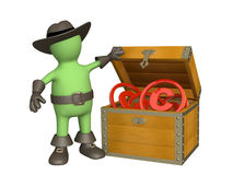 Puppet with copyright symbols Stock Photos