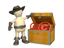 Puppet with copyright symbols Royalty Free Stock Images