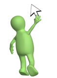 Puppet with a cursor Royalty Free Stock Photo