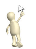 Puppet with a cursor Stock Photography