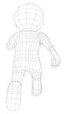 Puppet 3d man running Royalty Free Stock Image