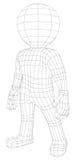Puppet 3d man standing Stock Image