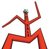 Puppet - dancing man Stock Image