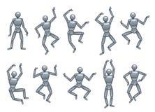 Puppet dancing Stock Image