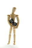 Puppet and dice Stock Photo