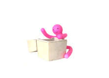 Puppet embrace Stock Image