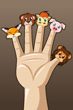 Puppet fingers Royalty Free Stock Photography
