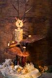 Puppet on fungi Stock Photography