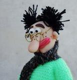 Puppet gentleman. Cold porcelain clay sculpted puppet Stock Photos
