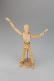 Puppet with hands up Stock Image