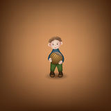 Puppet with hazelnut Royalty Free Stock Photo