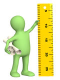 Puppet with information ruler Royalty Free Stock Image