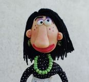 Puppet lady Royalty Free Stock Image