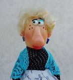 Puppet lady Royalty Free Stock Photo