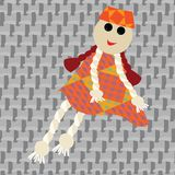 Puppet little girl Royalty Free Stock Photography