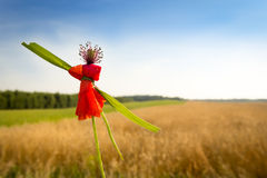 Puppet made of poppy flower Stock Photo
