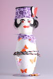 Puppet made of potholders royalty free stock photos