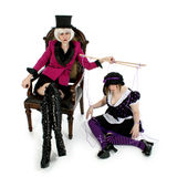 Puppet Master. Beautiful puppet master and her life size marionette Stock Photography
