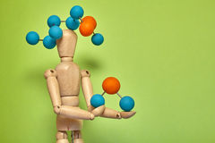 Puppet molecule Stock Photography