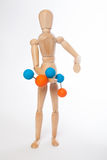 Puppet molecule Royalty Free Stock Image