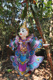 Puppet on the path to Ta Prohm, Cambodia Royalty Free Stock Photo